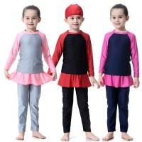 Baju Renang Muslim Muslimah Anak Cewek Umur 2-10thn