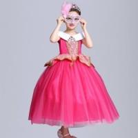 Baju kostum dress princess aurora dress hadiah ulang tahun anak gaun - XXL