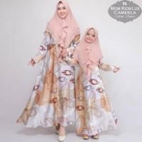 Baju Wanita Muslim Terbaru Couple Ibu Dn Anak Gamis Syari Pesta Camela