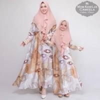 Baju Wanita Muslim Couple Ibu Dn Anak Gamis Syari Pesta Camela Terbaru