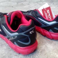 Sepatu Running Spotec DYNAMO black/red OLH1