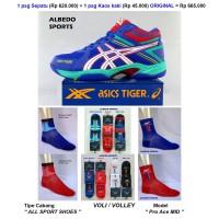 Sepatu Voli Volly Volley Asics Tiger Pro Ace Mid Origin OLR