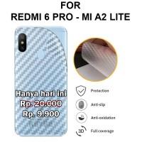 Xiaomi Redmi 6 Pro - Mi A2 Lite stiker anti gores garskin SKIN CARBON