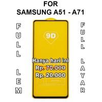 Tempered Glass Samsung A51 - A71 anti gores screen guard full layar 5D