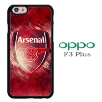 Casing OPPO F3 PLUS Arsenal Red Logo P1328