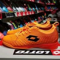 Sepatu Futsal Lotto Spark In Orange Original