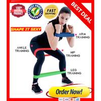 LATEX Tension Resistance Band Loop Karet Elastis Olahraga Gym fitness