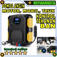Pompa Ban Mobil Truk - Cek Tekanan Angin - Kompresor Angin Mini