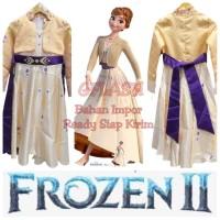 Kostum Anak Anna Frozen 2 Princess Disney Baju Dress Perempuan Gaun