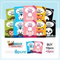 BEST Seller 12 Sachet Animal Mask - Clean&Pure Animal Mask Pack
