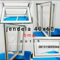 jendela aluminium warna PUTIH casement bouvenli murah promo