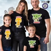 Baju Kaos Keluarga Couple Family 4 pcs Star Wars - Free Cetak Nama