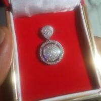 liontin berlian eropa asli dengan bahan emas, bandul/mata kalung