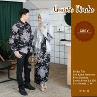Couple Batik Gamis brokat susun Sarimbit Baju Batik Gamis