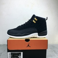 "Sepatu Basket x Nike Air Jordan 12 Reverse Taxi"" Black White"