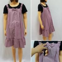 Baju Hamil Dress Hamil & Menyusui Overall Katun