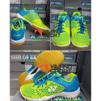 Promo Sepatu Badminton Yonex Shb 03 Ex Blue-U002Flime berkualitas