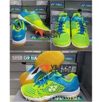Terlaris - Sepatu Badminton Yonex SHB 03 EX Blue Lime berkualitas