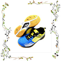 Sepatu Badminton Fleet FT BS 29 - Blue Yellow Anak Anak berkualitas