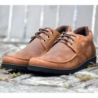 Sepatu Kulit Boots Pria UKURAN BESAR 46-49 Casual - Paul Dwell Tan CH