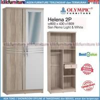 Lemari Helena Olympic 2 Pintu Cermin Minimalis