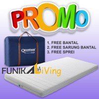 Quantum Guest Bed Travel Rebonded Latex Busa Gulung Lipat Tebal 80x200