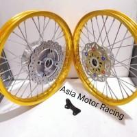 Paketan Velg TDR Ring 17 140 140 Ninja RR Ninja R Tromol Cakram Dep