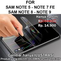 Skin aurora Samsung Note 5 - 7 FE - 8 - 9 garskin anti gores belakang
