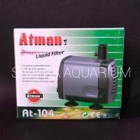 ATMAN 104 / 38 watt / 2 meter / 2000Lt/H / Pompa Air / AT 104