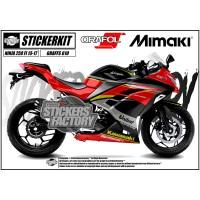 DECAL STICKER STIKER KAWASAKI NINJA 250 FI 2013 - 2017 GRAFIS RED 610