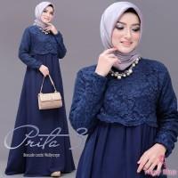 KEBAYA / Baju Muslim Wanita DPT005 Dress Maxy Terbaru Kondangan Brukat