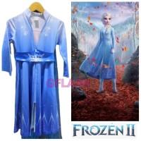Kostum Anak Elsa Frozen 2 Princess Disney Baju Dress Perempuan Gaun