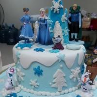 frozen birthday Cake 18 cm Lapis Surabaya
