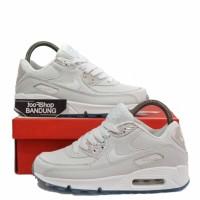 Sepatu Sneakers Women Nike Air Max 90 Full WHite Blue Tint Premium