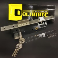 mortise lock swing/body rumah kunci Dolomite + cylinder, stainless