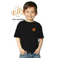 t-shirt kaos anak manchester united logo - import quality