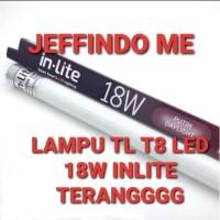 LAMPU TL T8 18 W INLITE TUBE 18 WATT LED IN LITE 120CM - Putih