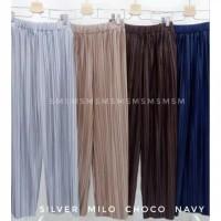Celana kulot plisket import jumbo bigsize/plea