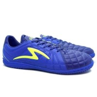 Sepatu Futsal Specs Barricada Kaze IN Navy/Tulip Blue/Safety Yellow