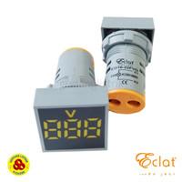 Pilot Lamp LED Volt Meter 22mm 20-500V Square Panel LED Volt Indicator