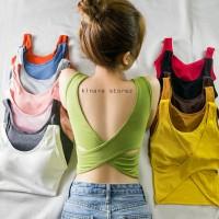 tanktop busa backless tali silang atasan fashion wanita 055