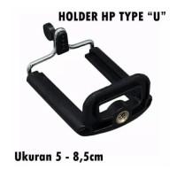Holder U Clamp HP Tongsis Monopod Tripod Penjepit Holder U Universal