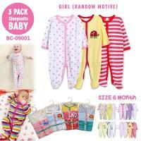 3in1 Jumsuit jumper panjang Baju Tidur Anak Baju Bayi piyama 09001GIRL