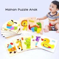Puzzle kayu Gambar Hewan Animal Puzzle Toys Mainan Anak TO-A12