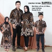 satu set baju batik couple keluarga tunik batika ortu anak cewek 1