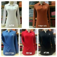 Kaos Polo Wanita Fashion Lengan Panjang Krah