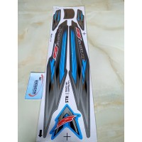 Stiker Striping Motor HONDA supra fit new wave 100S biru muda