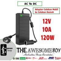 AC to DC Adapter Converter Pompa Ban Mobil ke Colokan Listrik 10A 120W
