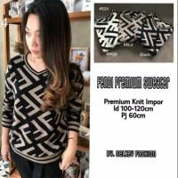 Baju Atasan Wanita Blouse Muslim Fendi Premium Sweater