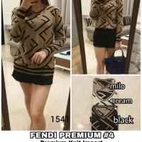 Baju Atasan Wanita Blouse Muslim Fendi Premium #4 Sweater